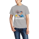 RONALD RAGIN Custom Men's Crew-Neckone T-shirt Gray