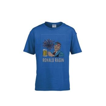 RONALD RAGIN Gildan Children's Round Neck T-shirt Sapphire Blue