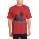 BEERACK OBAMA Custom Men's Crew-Neckone T-shirt Red