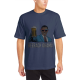 BEERACK OBAMA Custom Men's Crew-Neckone T-shirt Navy Blue