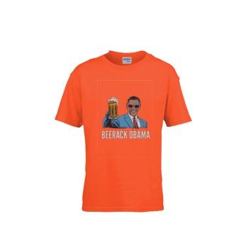 BEERACK OBAMA Gildan Children's Round Neck T-shirt Orange