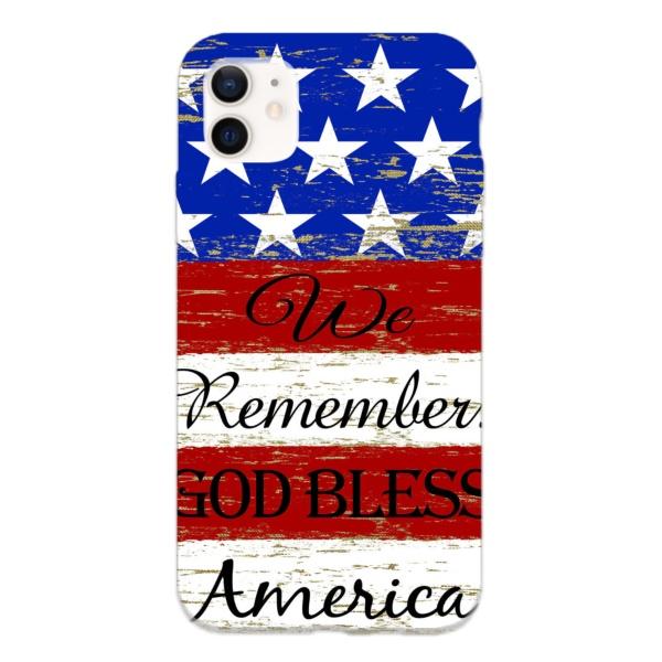 American flag Custom Liquid Silicone Phone Case for iPhone 12