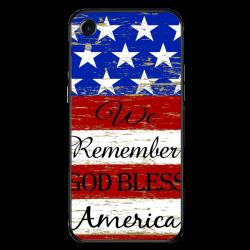 American flag Custom Toughened Phone Case For Iphone Xr