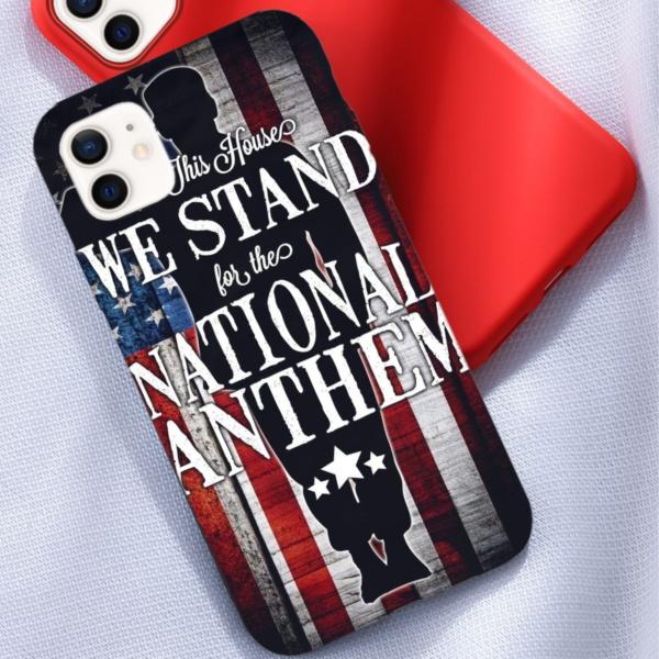 Stand Yard Flag Custom Liquid Silicone Phone Case for iPhone 12