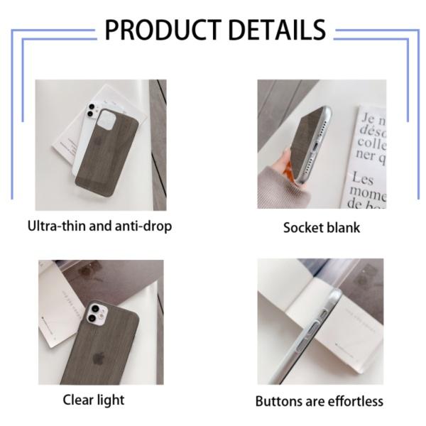 Brown Custom Transparent Phone Case for iPhone 12