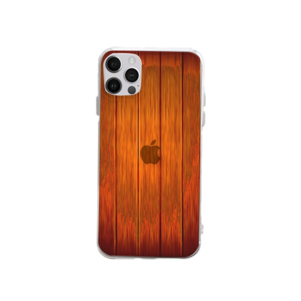 Wooden Custom Transparent Phone Case for iPhone 12 Pro