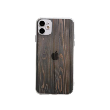 Brown wooden Custom Transparent Phone Case For Iphone 12
