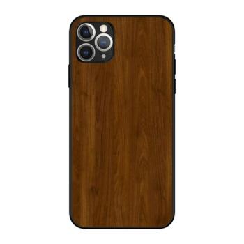 Wooden texture Custom Liquid Silicone Phone Case For Iphone 11 Pro Max