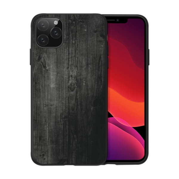 Brown wooden Custom Liquid Silicone Phone Case for iPhone 11 Pro Max