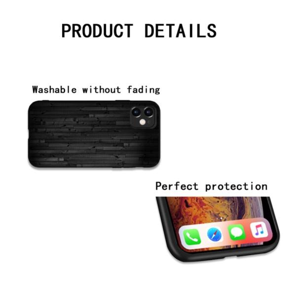 Grey wood Custom Liquid Silicone Phone Case for iPhone 12 Pro Max