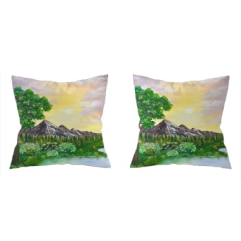 Tree on a lake Custom Pillowcase (Front and Back)
