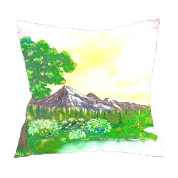 Tree on a lake Custom Pillowcase