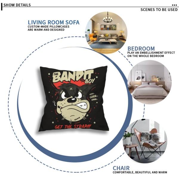 Bandit Boy Custom Flax Pillowcase