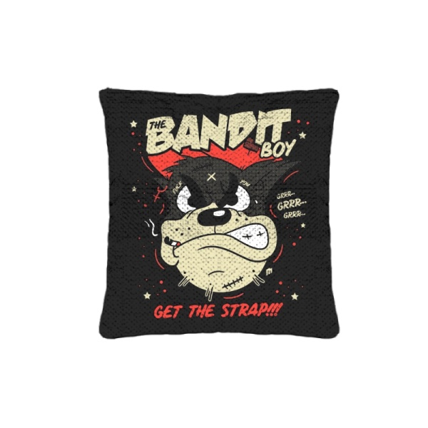 Bandit Boy Custom Sequin Pillowcase