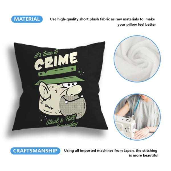 Crime Custom Pillowcase (Front and Back)