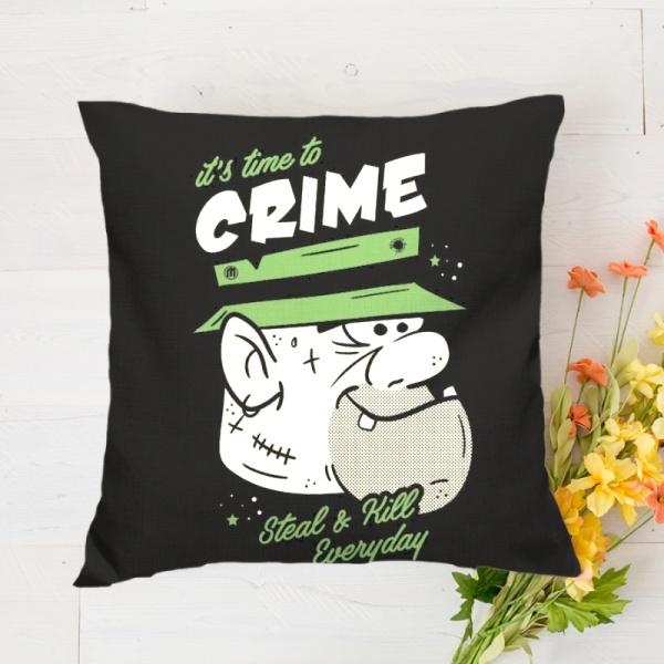 Crime Custom Flax Pillowcase