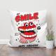 Smile Jumper Custom Flax Pillowcase
