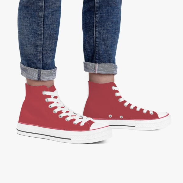 Winery Men's High Top Canvas Shoes