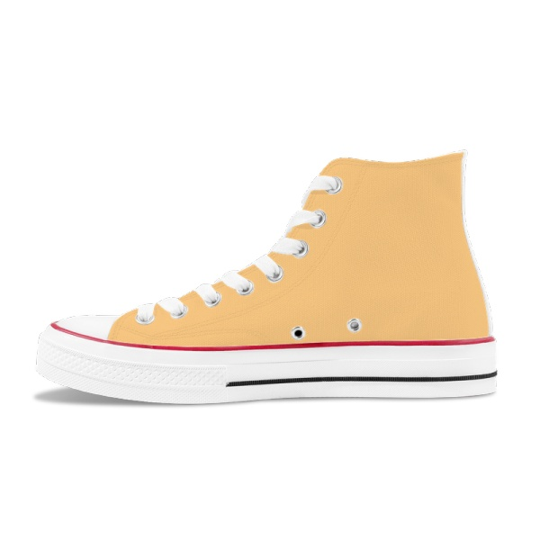 Daylily Men's  High Top Canvas Shoes