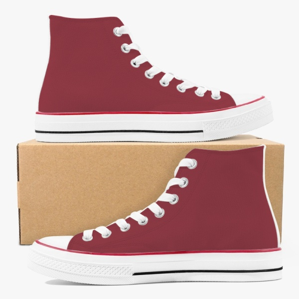 Downtown Brown Men's High Top Canvas Shoes