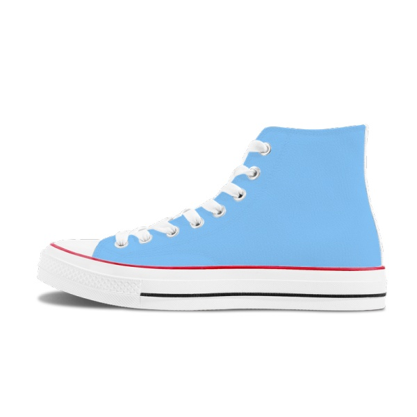 Clear Sky Men's High Top Canvas Shoes