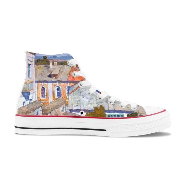 Denis Sarazhin Artist Retro  High Top Canvas Shoes
