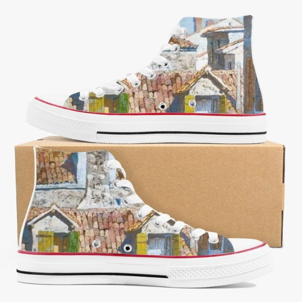 Denis Sarazhin Old Domra Artist  High Top Canvas Shoes
