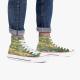Claude Monet  Lotus Artist Retro High Top Canvas Shoes