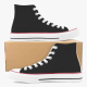 Classics Black Men's High Top Canvas Shoes