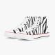 Zebra-stripe High Top Canvas Shoes