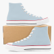 Tri-panel Yellow Blue  Canvas  Sneakers High Top Lace Up Canvas Shoes Fashion Comfortable
