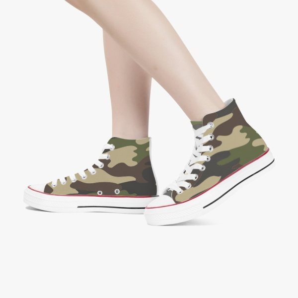 Hybrid Camo Shoes High Top Canvas Shoes Mens Womens  Sneakers Comfortable