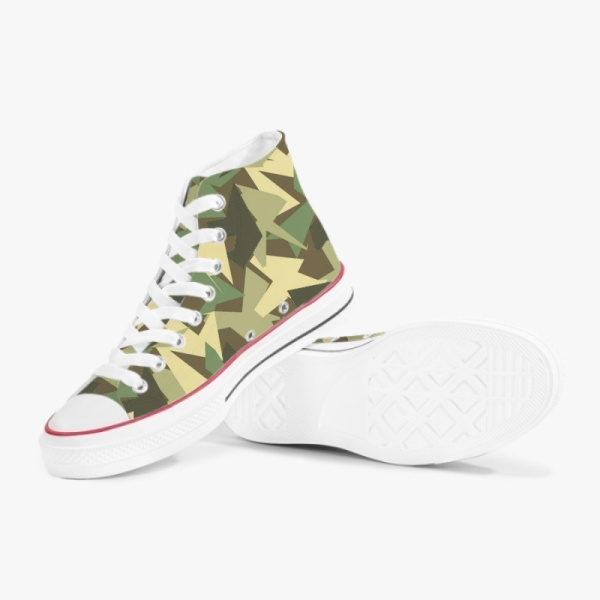 Hybrid Camo High Top Canvas Shoes Mens Womens  Sneakers Comfortable