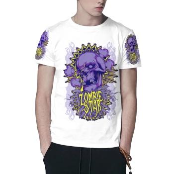 Skull and bones Custom All Surface  Men's T-shirt