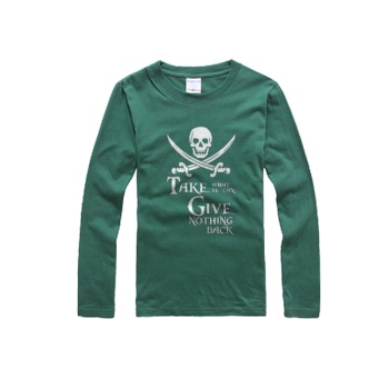 southern attitude shirts Custom Men's round neck long sleeve T-shirt Dark Green