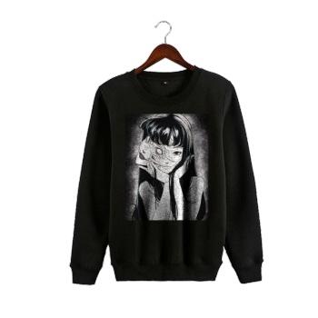 tomie goth sweater Custom Man's Black Crew Neck Sweater