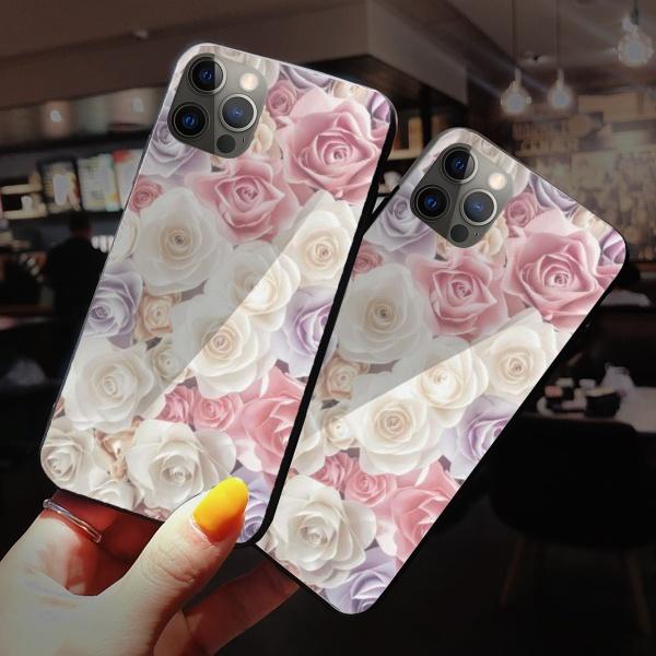 Rose Burga Cases Custom Toughened Phone Case for iPhone 12 Pro Max