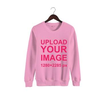 Custom Man's Pink Crew Neck Sweater