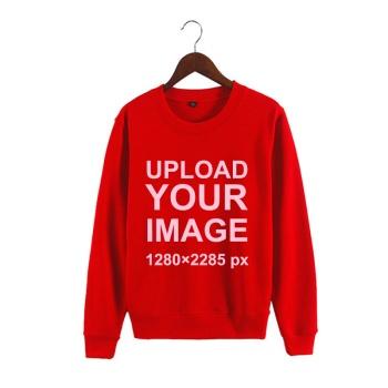 Custom Man's Red Crew Neck Sweater