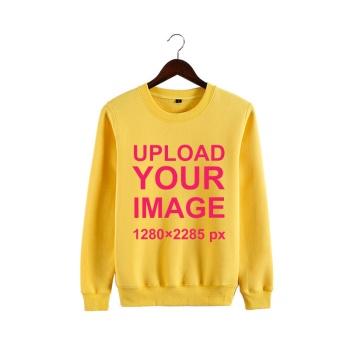 Custom Man's Yellow Crew Neck Sweater