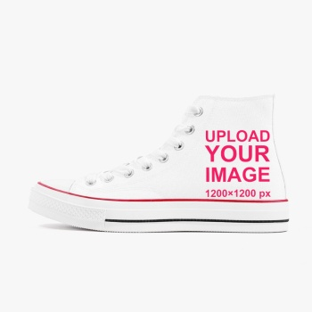 Custom High Top Canvas Shoes White