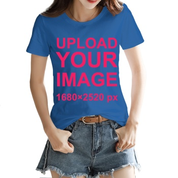 Custom Women's T-shirt Dark Blue