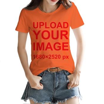 Custom Women's T-shirt Orange