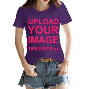 Custom Women's T-shirt Purple