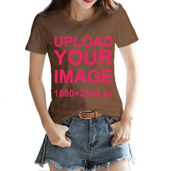 Custom Women's T-shirt Brown