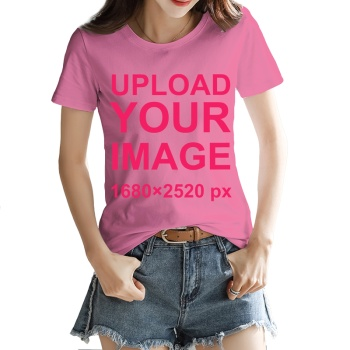 Custom Women's T-shirt Pink