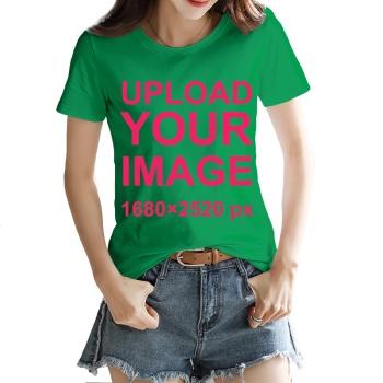 Custom Women's T-shirt Green