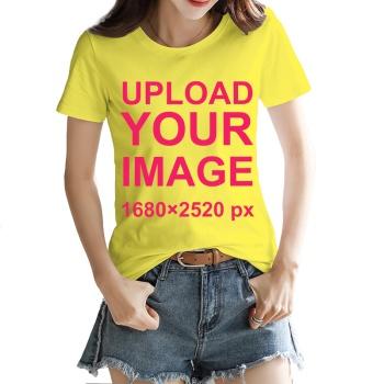 Custom Women's T-shirt Yellow
