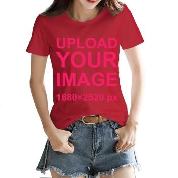 Custom Women's T-shirt Red