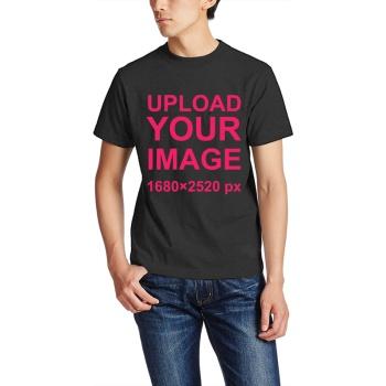 Custom Men's Crew-Neckone T-shirt Black